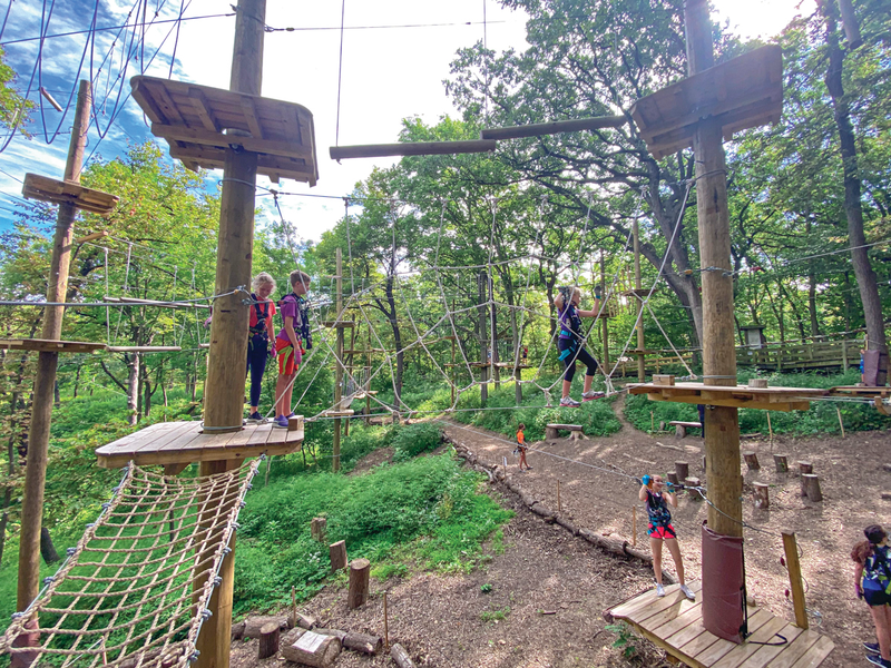 children climbing the structures, TreeRush Adventures