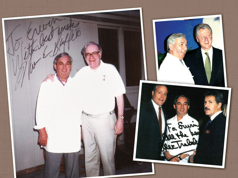 three photos, Erwin Siegler, famous people