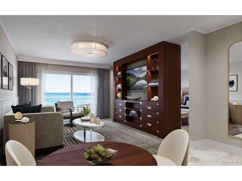 American Cruise Lines' suite living room
