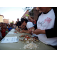 Crab picking contest.  professional crab pickers show hos it is done