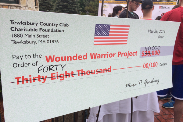The Tewksbury Memorial Day 5K Fun Run raised more than $40,000 for the Wounded Warriors Project.