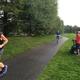 Michael Pitreau, 354, heads toward the finish line of the Tewksbury Memorial Day 5K Fun Run.