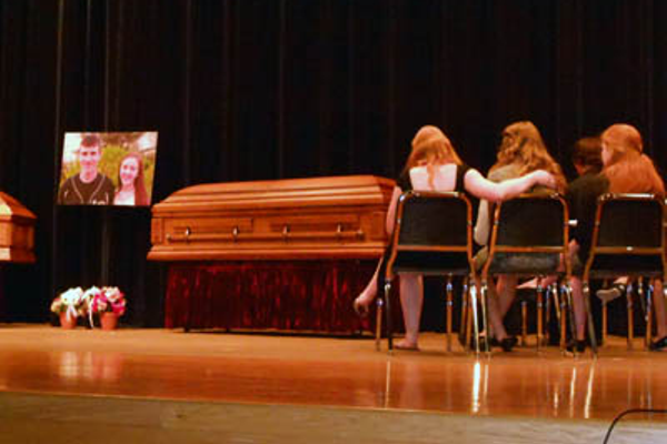 The mock accident also included a funeral for the two students who died, and a trial for the student who was driving drunk.