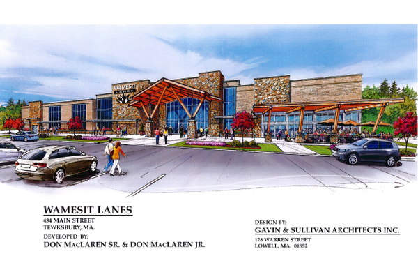 An artist's rendition of the proposed Wamesit Lanes project.