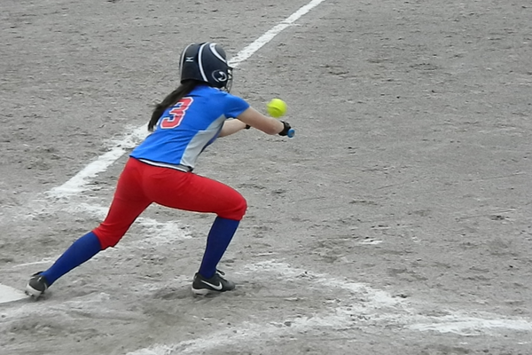 Marissa Doherty lays down a bunt