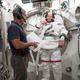 Steve Swanson participates in a spacesuit fit check. (#5)
