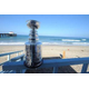 The Cup watches over the beach.