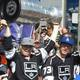 Dustin Brown brings the Stanley Cup to MB during the parade.