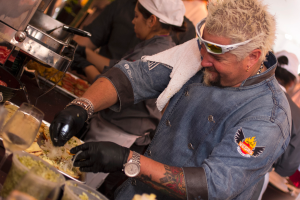 "Guy Fieri, star of Food Network's ""Diners, Drive-Ins and Dives"""