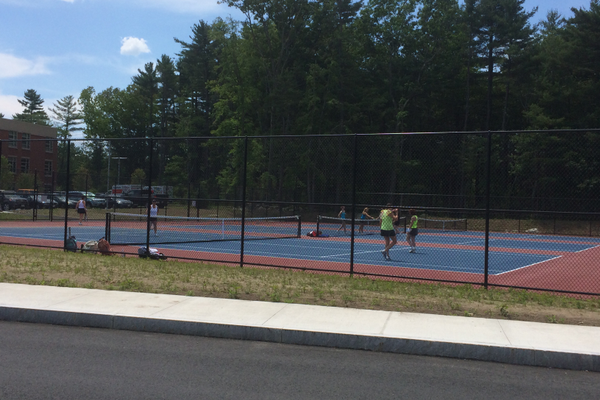 The 2014 Tewksbury Open debuted the new courts at Tewksbury High.