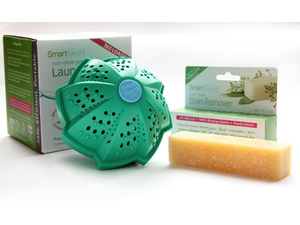 Smartklean laundry ball and stain remover web