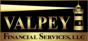 Medium valpey financial services logo vfs logo lighthouse gold and black small