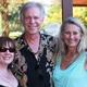 Manhattan Beach residents Valerie Maxwell, Scott Wilson and Jayne Justice enjoy the evening.