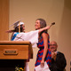 Class President, Miss Marissa Migliarino, 2014, passes off the gavel to Miss Alexis Kane for the Class of 2015.