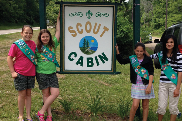 Girl Scout Troop 51339 members Megan Allessi, Sydney Komoroski, Kyra Koch, Claire Nettleton and Ana Menchyk