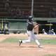 Jake Symon takes a swing.