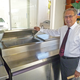 Richard Brown with just one of the major pieces of recommended restaurant equipment.