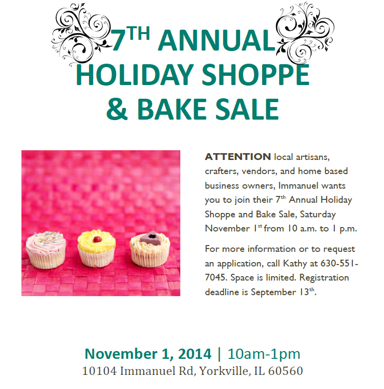 Holiday shoppe flyer from ana