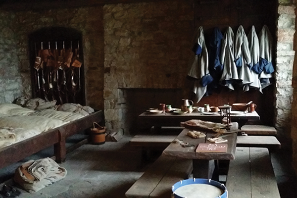The bunkroom at Old Fort Niagara