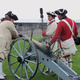 Ready to fire a cannon at Old Fort Niagara
