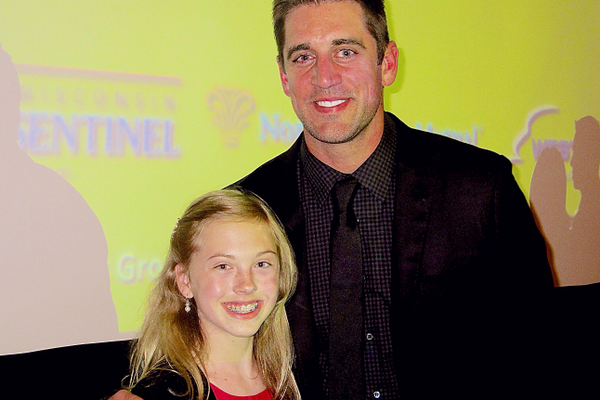 Annie and Aaron Rodgers