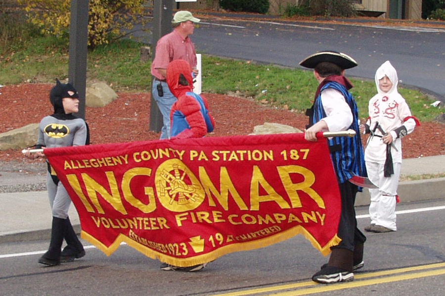 Ingomar volunteer fire company halloween parade 1