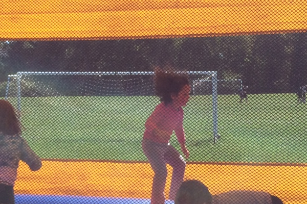 The bouncy house is a popular attraction at any event.